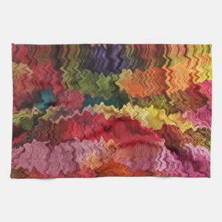 Colorful Fabric Abstract Towel