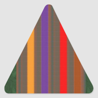 COLORful Fabric Stripe: Celebration Gifts LOWPRICE Triangle Sticker
