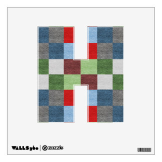 Colorful Fabric Style Squares Pattern Wall Sticker