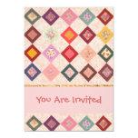 Colorful Fabrics Pattern Custom Invites