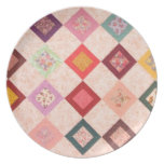 Colorful Fabrics Pattern Dinner Plate