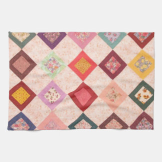 Colorful Fabrics Pattern Hand Towel