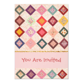 Colorful Fabrics Pattern 13 Cm X 18 Cm Invitation Card