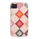 Colorful Fabrics Pattern iPhone 4 Case