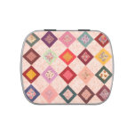 Colorful Fabrics Pattern Jelly Belly Candy Tins at Zazzle