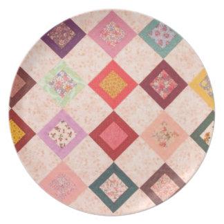 Colorful Fabrics Pattern Plates