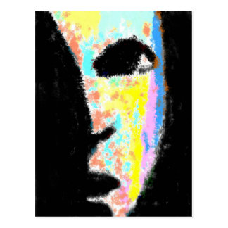 Colorful Face Postcard