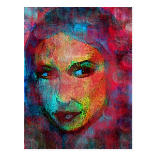 Colorful Face Postcard