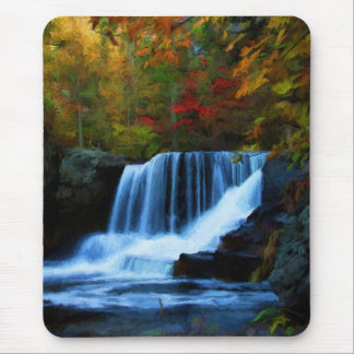 Colorful Factory Falls in Pennsylvania Painting Mouse Pad