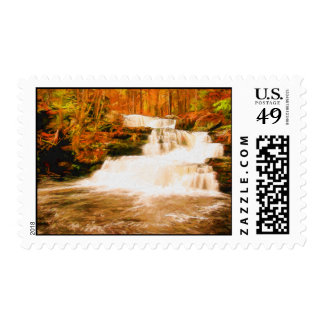 Colorful Factory Falls - Poconos, Pennsylvania Postage