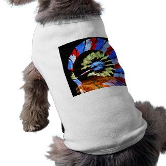 Colorful fair ride design, neon colors on black #1 doggie tee shirt