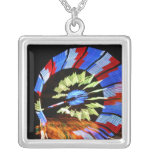 Colorful fair ride design, neon colors on black #1 jewelry