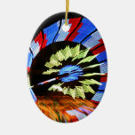 Colorful fair ride design, neon colors on black #1 christmas ornament