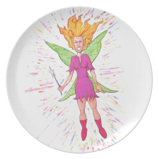 Colorful Fairy Dinner Plate