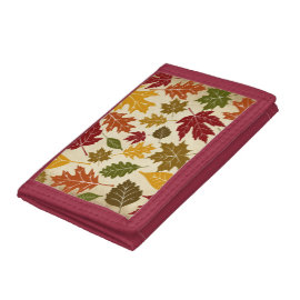 Colorful Fall Autumn Tree Leaves Pattern Wallet