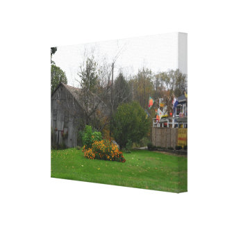 COLORFUL FALL BARN COUNTRY CANVAS PRINT