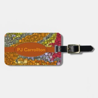 Colorful Fall Bouquet Box Design Bag Tag