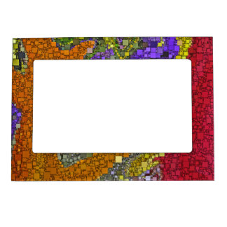 Colorful Fall Bouquet Box Design Magnetic Frame