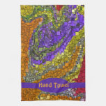 Colorful Fall Bouquet Box Design Towels