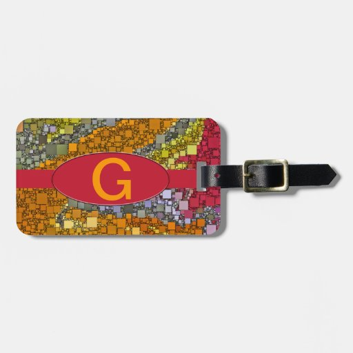 Colorful Fall Bouquet Box Design Travel Bag Tag