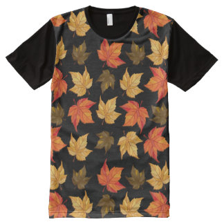 Colorful Fall Color Leafs pattern All-Over-Print T-Shirt