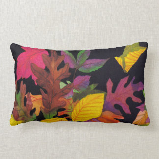 Colorful Fall Leaf Pillow
