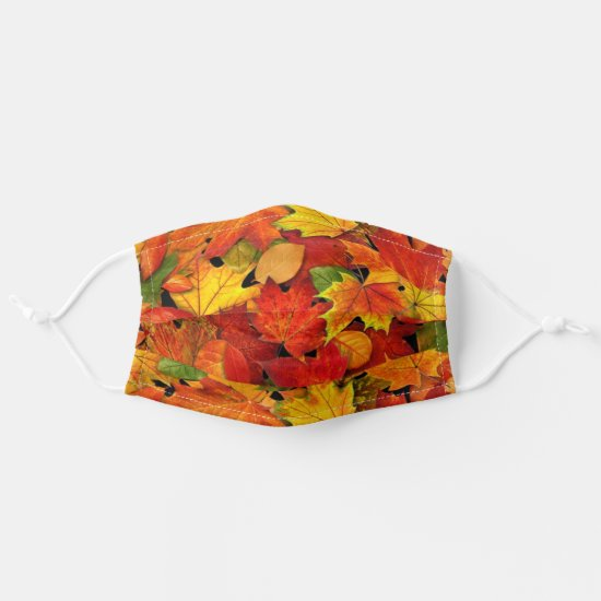 Colorful Fall Leaves Comfortable Fabric Women's Cloth Face Mask