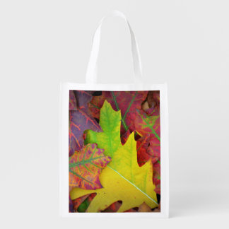 Colorful Fall Leaves Market Totes