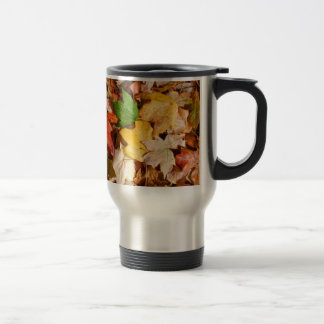 Colorful Fall Leaves 15 Oz Stainless Steel Travel Mug