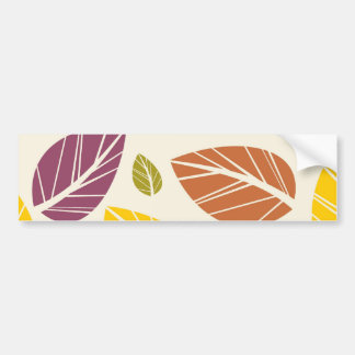 Colorful Fall Leaves Purple Maroon Yellow Green Bumper Stickers
