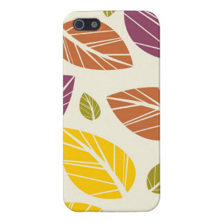 Colorful Fall Leaves Purple Maroon Yellow Green iPhone SE/5/5s Case