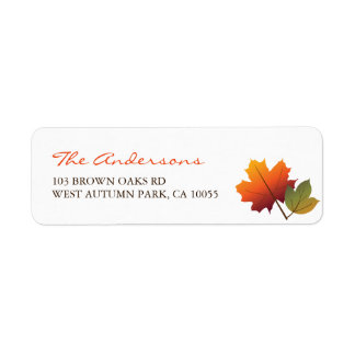 Colorful Fall Leaves Thanksgiving Address Labels