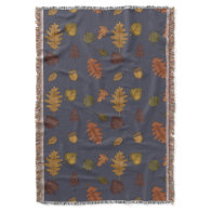 Colorful Fall Leaves Throw Blanket