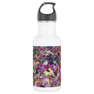 Colorful fall leaves water bottle