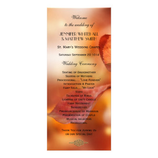 Colorful Fall Leaves Wedding Program Template