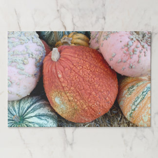 Colorful Fall Pumpkins Paper Placemat