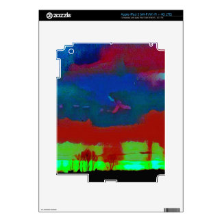 Colorful Fall Toned Abstract Horizon Sky Decals For iPad 3