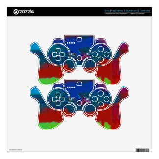 Colorful Fall Toned Abstract Horizon Sky PS3 Controller Decal