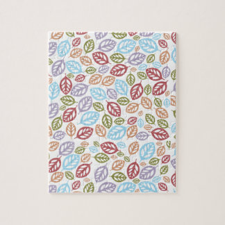 Colorful Fallen Leaves Jigsaw Puzzle