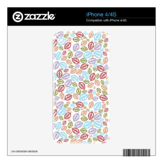 Colorful Fallen Leaves Skins For The iPhone 4