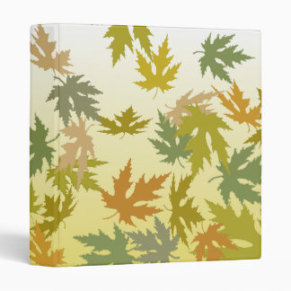 Colorful Falling Autumn Leaves 3 Ring Binder