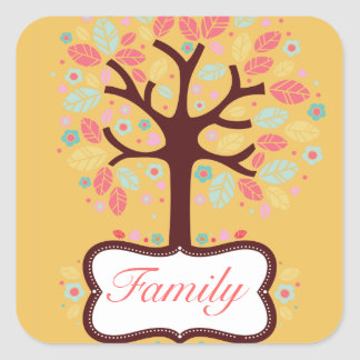 Colorful Family Tree Sticker