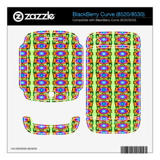 colorful fancy design BlackBerry decal