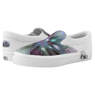 Colorful Fantasy, abstract and modern Fractal Art Slip-On Sneakers