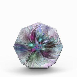 Colorful Fantasy Abstract Modern Fractal Flower Award