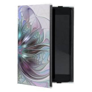 Colorful Fantasy Abstract Modern Fractal Flower Case For iPad Mini
