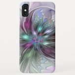 Colorful Fantasy Abstract Modern Fractal Flower iPhone XS Max Case