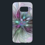 """Colorful Fantasy Abstract Modern Fractal Flower Samsung Galaxy S7 Case<br><div class=""""desc"""">Colorful and magical. Design for your phone case and more.</div>"""