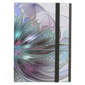 Colorful Fantasy Abstract Modern Fractal Flower iPad Air Case
