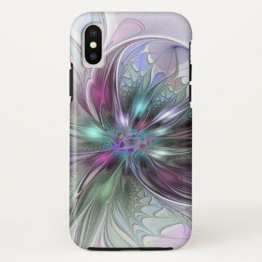 GabiwArt Colorful Fantasy Abstract Modern Fractal Flower iPhone X Case